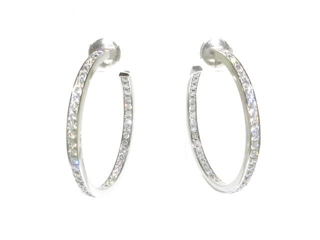 Cartier(カルティエ)/ピアス/クラシックフープ / 18金(K18WG)×ダイヤモンド