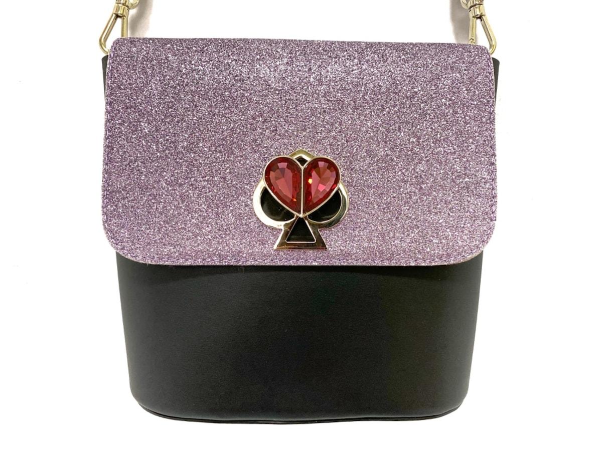 Kate spade(ケイトスペード)のショルダーバッグ 黒×ライトピンク