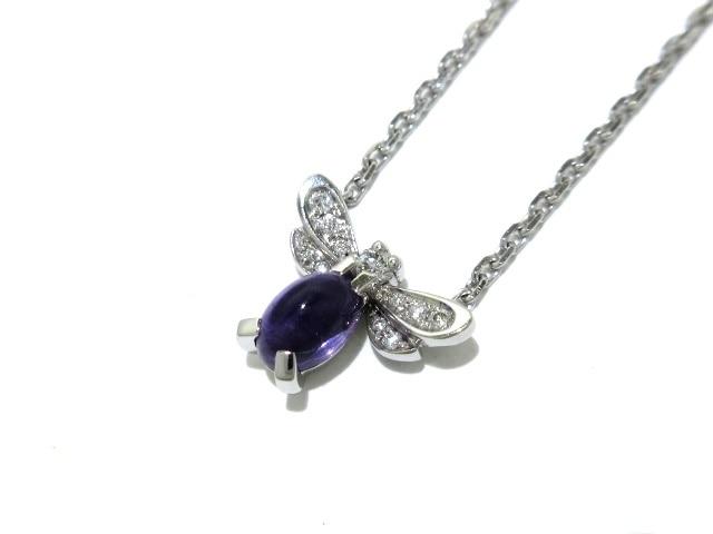 CHAUMET(ショーメ)/ネックレス/アトラップ・モワ / 18金(K18WG)×アメジスト×ダイヤモンド