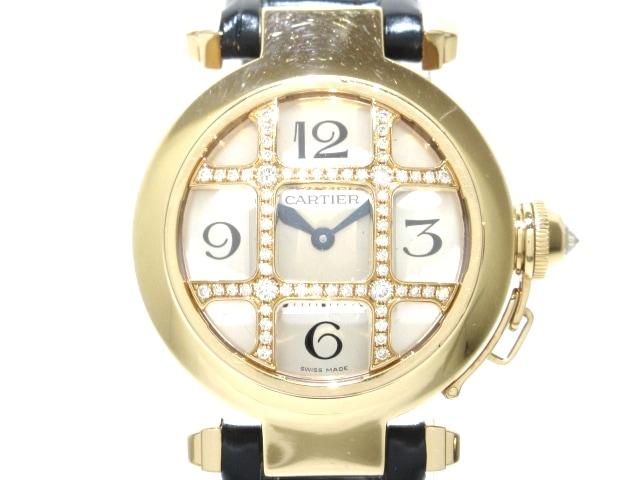 Cartier(カルティエ)のパシャ32 グリッド ダイヤ コンベックス