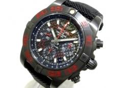 ブライトリング/MB0141/BD57/自動巻き/クロノマット 41 レイヴン/腕時計 黒/ブラックカーボン日本限定300本(N゜151/300)/裏スケ/クロノグラフ/社外ベルト