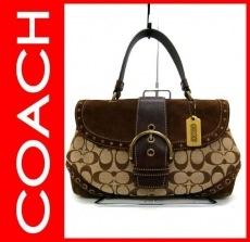 COACH(コーチ)のシグネチャー ストゥッティド トップハンドルのハンドバッグ