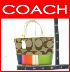 COACH(コーチ)のシグネチャースモールトートのトートバッグ