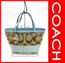 COACH(コーチ)のシグネチャーストライプのハンドバッグ