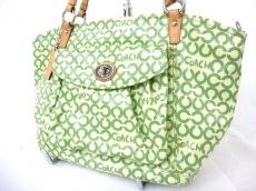 COACH(コーチ)のオプアート コーテッドキャンバス リアトートのショルダーバッグ