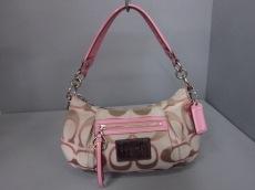 COACH(コーチ)のポピー シグネチャー サティーン ルレックス グルービーのハンドバッグ