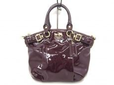 COACH(コーチ)のマディソン パテント ミニ ソフィア サッチェルのハンドバッグ