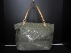 COACH(コーチ)のエンボスド オプ アート パテント ラージ リア トートのトートバッグ