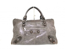BALENCIAGA(バレンシアガ)のエディターズバッグザジャイアントワークカバードのハンドバッグ