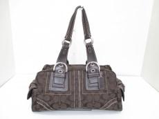 COACH(コーチ)のソーホー シグネチャー サッチェルのハンドバッグ