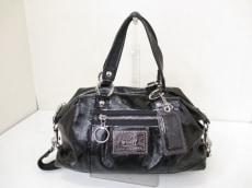 COACH(コーチ)のポピーパテントレザーサッチェルのハンドバッグ
