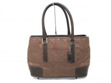 COACH(コーチ)のシグネチャー スモールキャリオールのハンドバッグ