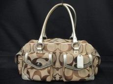 COACH(コーチ)のシグネチャー ラージ ポケット サッチェルのハンドバッグ