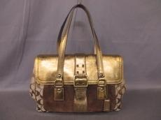 COACH(コーチ)のメタリックシグネチャーサッチェルショルダーバッグのショルダーバッグ