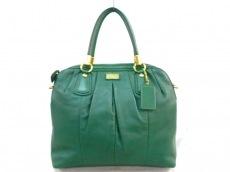COACH(コーチ)のクリスティンレザープリーテッドサッチェルのハンドバッグ