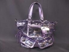 COACH(コーチ)のポピー トート スパンコール スポットライトのハンドバッグ