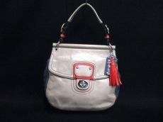 COACH(コーチ)のポピー レザーカラーブロック ニュー ウィリスのハンドバッグ