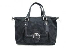COACH(コーチ)のキャンベルシグネチャーサッチェルのハンドバッグ