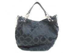 COACH(コーチ)のオプアート サテン ラージ ブルックのハンドバッグ