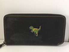 differently fbe99 dd81d コーチ 長財布 55301 黒×グリーン×マルチ 恐竜 レザー COACH ...