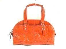 COACH(コーチ)のパテントレザージップサッチェルハンドバッグのハンドバッグ