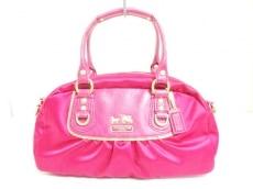 COACH(コーチ)のアマンダ サテン ミニ サッチェルのハンドバッグ