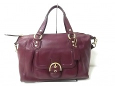 COACH(コーチ)のキャンベルレザー サッチェルのハンドバッグ