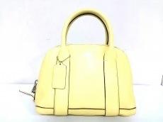 COACH(コーチ)のブリーカー ペブルド レザー ミニ プレストン サッチェルのハンドバッグ