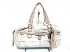 COACH(コーチ)のチェルシー エンボスド クロコダイル リーズ サッチェルのハンドバッグ
