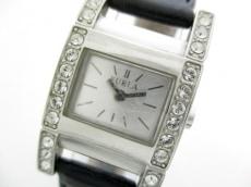 0503748ed958 フルラ 腕時計 002350-02-71 レディース 革ベルト/ラインストーン ...