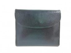 finest selection c7bc0 797e0 LOEWE(ロエベ) Wホック財布美品 - 黒 リザード(11791315)中古 ...