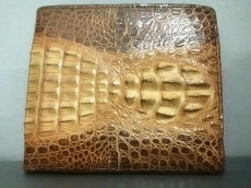 Crocodile Skin(クロコダイルスキン)の2つ折り財布