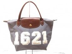 39e8341f57d5 ロンシャン ハンドバッグ グレー×ダークブラウン×アイボリー(12276564 ...