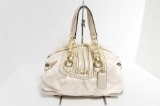 COACH(コーチ)のアシュレイギャザーシグネチャーサッチェルのハンドバッグ