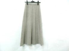ノーブランド ロングスカート サイズ48B レディース ライトグレー