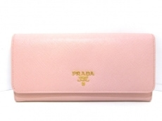 97eb34282181 プラダ 財布美品 - 1MT440 ピンク チェーンウォレット レザー(12655096 ...