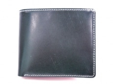 ブリティッシュグリーンの2つ折り財布