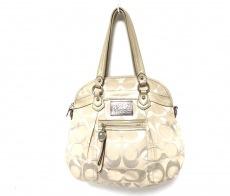 COACH(コーチ)のポピーシグネチャーサテンルレックスハイライトのハンドバッグ