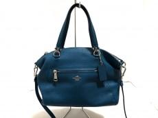 COACH(コーチ)のポリッシュド ペブルド レザー プレーリー サッチェルのハンドバッグ