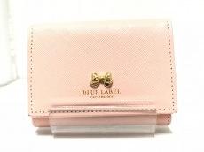 ブルーレーベルクレストブリッジの3つ折り財布