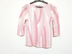 ランバン 七分袖セーター サイズ38 M レディース美品  ピンク×白