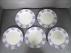 NARUMI(ナルミ) プレート新品同様  白×パープル 5枚SET 陶器