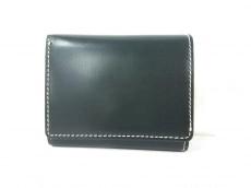 ブリティッシュグリーンの3つ折り財布