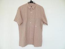 064382162dda パパス 半袖シャツ サイズL メンズ美品 オレンジ×グレー×白