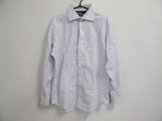 ポロラルフローレン 長袖シャツ サイズLL メンズ 白×マルチ