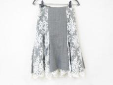 シトラスノーツ スカート サイズ38 M レディース美品  グレー×白