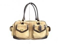 COACH(コーチ)のスウェードポケットサッチェルのハンドバッグ