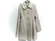 レストローズ コート サイズ2 M レディース美品  ベージュ×白