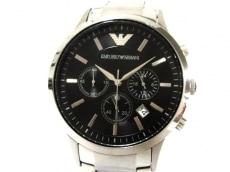 EMPORIOARMANI(アルマーニ) 腕時計美品  AR-2434 メンズ 黒
