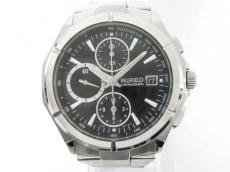 WIRED(ワイアード) 腕時計 7T92-0JK0 メンズ クロノグラフ 黒
